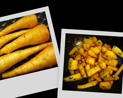 parsnips, before and after (overthemoon) Tags: home vegetables recipe parsnips panais