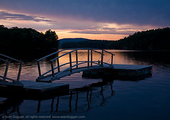 Clearing Storm (Sen Duggan) Tags: bridge sunset lake water twilight dock camden f14 maine 5d canon5d tranquil clearingstorm lakemegunticook