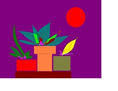 my potted plants and sun painting a (roberthuffstutter) Tags: art illustrations paintprogram huffstutter