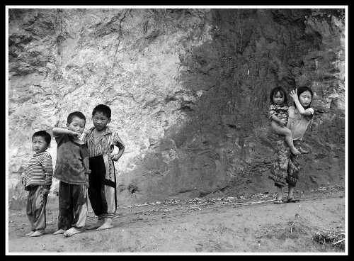 Lao Mountain Village Kids