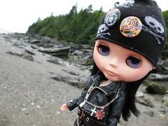 Charlotta on the beach