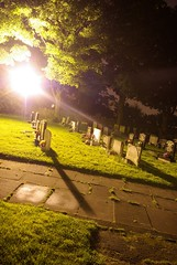 divine light (Matt_1) Tags: old longexposure trees light building tree church graveyard night dark lights long exposure path graves aficionados rainford