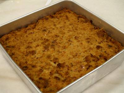 Tuna Cheese Bread Pudding