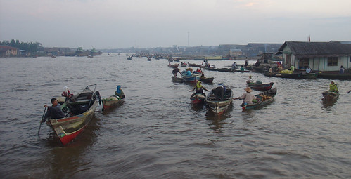 Banjarmasin floating market, Kuin river