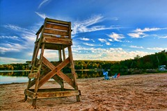 The Emptiness (DP|Photography) Tags: beach pennsylvania emptiness lifeguardchair arrowheadlake debashispradhan dpphotography dp|photography