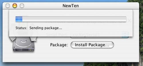 NewTen - sending a package
