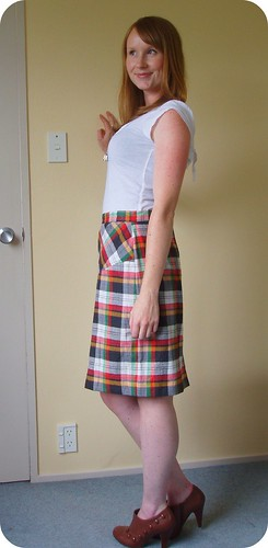 Plaid Skirt2