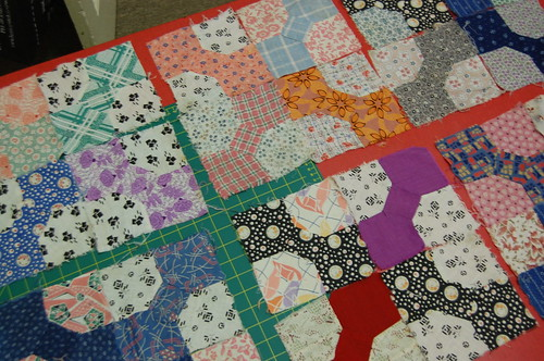 preparing quilt blocks