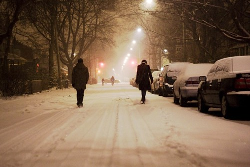 Snow walking on Brunswick Avenue (Toronto)