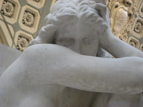 Eugène Delaplanche (French, 1831-1892) Eve After the Fall (1869) Marble. Musée dOrsay, Paris (Detail of Eyes)