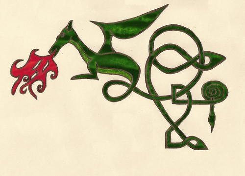 Green & bronze dragon 1