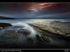 Late one December evening (opobs) Tags: dunravenbay southerndown glamorganheritagecoast beach seaside rocks sky san