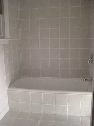 New tile and reglazed bathtub