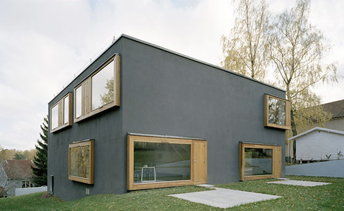 Modern House Exterior Design with Black Wall, Modern Exterior Design, Exterior Design