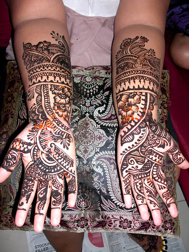 Wedding Mehendi on palms