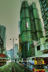 Bamboo scaffolding (LavenderIllusion) Tags: hongkong scaffolding bamboo