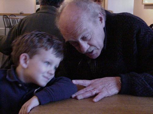 祖父と孫のツーショット
