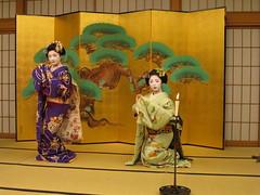 Kyoto Cuisine and Maiko Evening (maikohaaan) Tags: show japan dinner kyoto event maiko geiko geisha  ryokan kimono gion imperialpalace kinkakuji kiyomizu hatanaka hanamachi tawaraya        ozashiki yasakajinjya