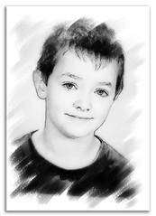 Tho n&b (Christian Bachellier) Tags: portrait photoshop children child dessin enfant tho esquisse