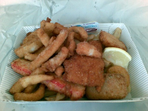 Seafood basket@Fishries on the Spit
