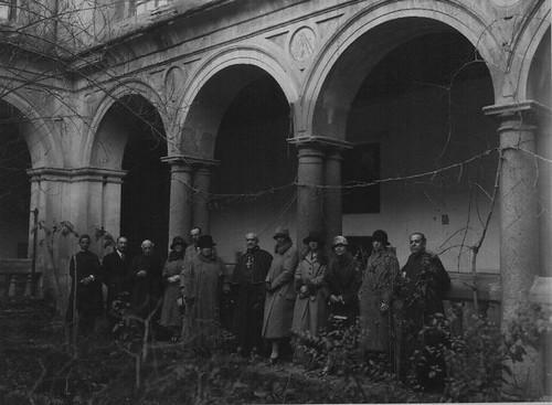 Convento de Santo Domingo el Real de Toledo.  Patio de la Mona y Alfonso XIII, 1933.
