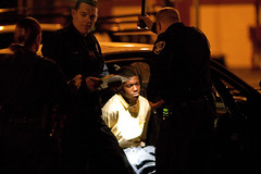 Kid Handcuffed in the Back of a Police Car, Oakland Riots (Thomas Hawk) Tags: california usa delete5 delete2 oakland riot unitedstates fav50 10 unitedstatesofamerica protest bart save3 police delete3 save7 save8 delete delete4 save2 fav20 save9 save4 eastbay save5 save10 save6 fav30 riots save1 downtownoakland oaklandpd oaklandpolice savedbythedeletemeuncensoredgroup fav10 fav25 bartpolice fav40 superfave oscargrant oaklandriot oaklandriot2009 oaklandriots2009 oscargrantriots oaklandriots