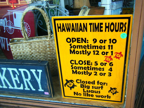 Hawaiian Time Hours