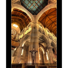 St Mary's Cathedral, Sydney :: HDR (:: Artie | Photography ::) Tags: classic church architecture photoshop canon golden design sandstone bravo cross cathedral cs2 tripod jesus gothic sydney australia wideangle arches symmetry ceiling nsw newsouthwales 1020mm pillars amen hdr organs stmarys xoxo artie stmaryscathedral stainedglasses 3xp pipeorgans sigmalens photomatix tonemapping tonemap 400d rebelxti