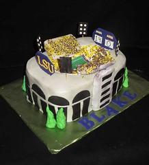 Blake's stadium cake (christie's cakes) Tags: sports field cake football stadium lsu