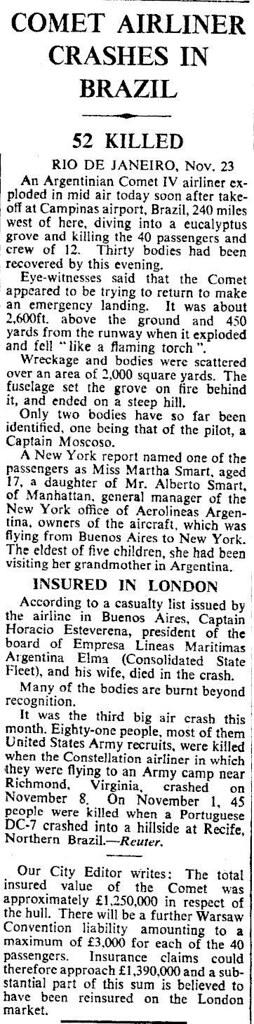 Los Comet IV de Aerolíneas Argentinas