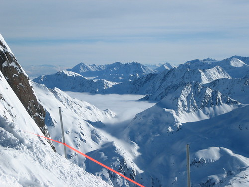 View from the top of Andermatt