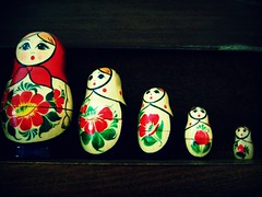 Russian Dolls (englishsnow) Tags: macro vintage objects russiandolls