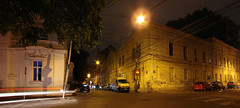 Night at the corner (Andy Loghin *) Tags: street panorama night corner romania bucharest bucuresti arthurverona pitarmos