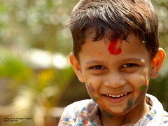 Colours Wouldn't But the Smile will Last Forever Explore # 297 (Ar.Shakti Nanda) Tags: light portrait colour nature close picture son olympus architect photograph nanda 510 holi orissa ong shakti bhubaneswar theface mywinners goldstaraward shaktinanda