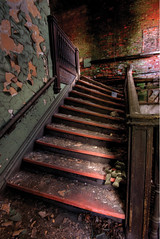Fun House Stairs (Scallop Holden) Tags: new york urban ny abandoned buffalo rust decay exploring neglected explore exploration wny urbex urbanx explored