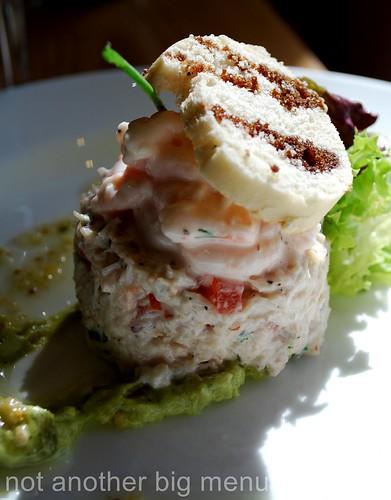 Bailbrook House Restaurant - Crab and tiger prawn salad, lemon grass and ginger dressing