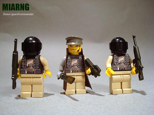 Custom minifig M.I.A.R.N.G. Honor guard/commander