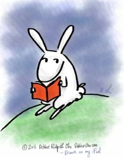 Bunny with a book (drawn on my iPad)