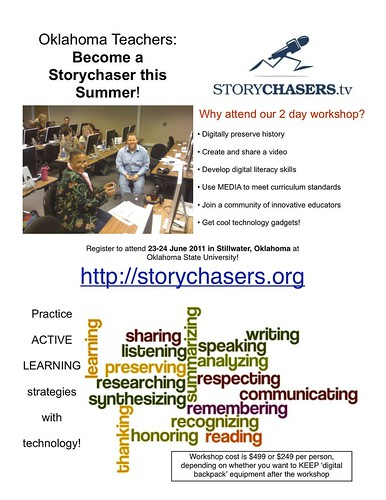 Oklahoma Teachers: Become a Storychaser this Summer!