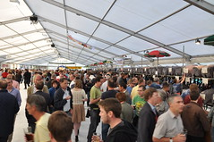 In the Beer tent at Cambridge Beer Festival
