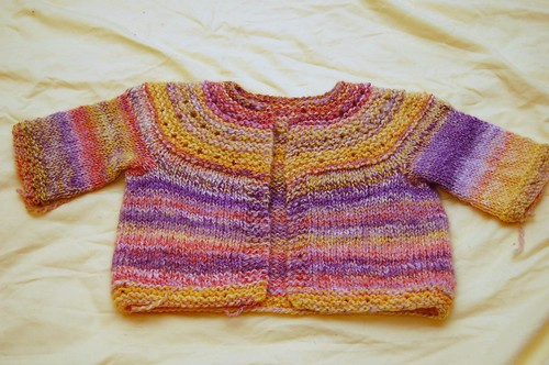 handspun baby sweater