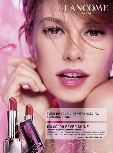 Model Elettra Rossellini on Lancome