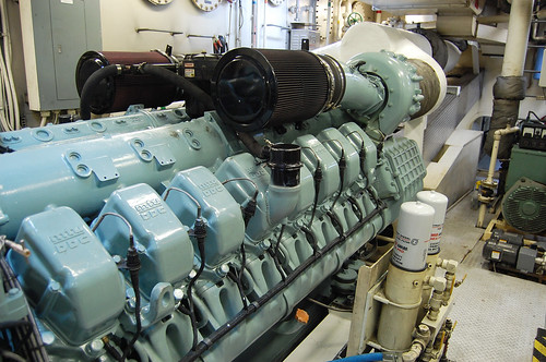 Starboard Diesel Looking Aft