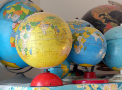 Globe Collection (freshvintagestyle) Tags: freshvintage vintageglobes