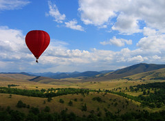 Uros Petrovic - Flight Over The Waving Highlands (Uros Petrovic) Tags: red mountain france hot uros clouds landscape flying photo highlands air hotair baloon serbia sightseeing flight first hills highland airship traveling petrovic balon srbija balooning zlatibor planina worldthroughmyeyes