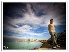 Welcome To My Utopia (Hussain Shah.) Tags: city sea sky clouds d50 kid nikon sigma kuwait 1020mm utopia kuwaiti shah hussain aplusphoto muwali