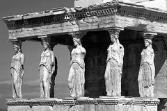 Caryatids (enrix64) Tags: bw statue statues athens bn greece acropoli sculture monuments acropolis monumenti caryatids masterpieces antiquity antichit architecturals attiki atene cariatidi capolavori operadarte architettoniche enrix enrix64 sculpturesartwork