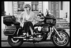 Marianne Faithful on my Harley FXRT (david_nimrod) Tags: evolution harleydavidson evo mariannefaithful girlonamotorcycle fxrt sportglide
