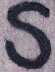 Alphabet ATC or ACEO Available - Needlefelted Letter S