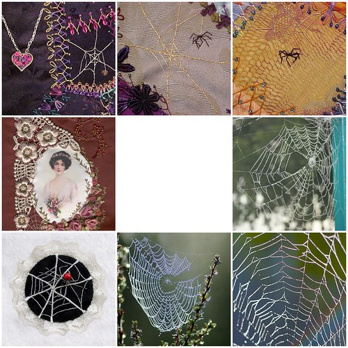 Spiderwebs and Embroidery